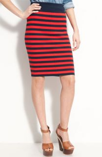 Juicy Couture Full Needle Stripe Pencil Skirt