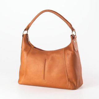 clava rivet leather hobo handbag vachetta tan fashionable mid sized