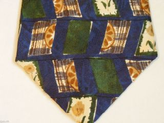NWOT COLOURS ALEXANDER JULIAN GREEN BLUE BROWN FLORAL NECK TIE MENS 56