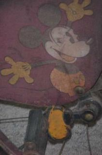 Original Colson Mickey Mouse Velocipede Tricycle RARE