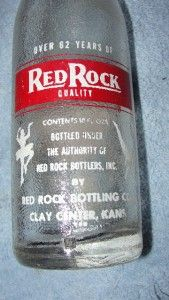 Players ACL Soda Pop Bottle 10 oz Red Rock Bottlers Clay Center Kans