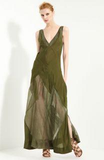 Donna Karan Collection Organza & Habutai Silk Dress