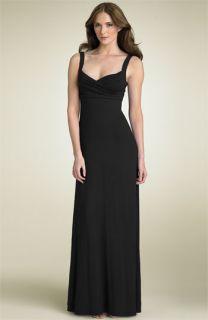 BCBGMAXAZRIA Surplice Jersey Maxi Dress