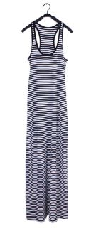 Stripe Sleeveless Full Length Long Maxi Tank Sun Dress Racerback
