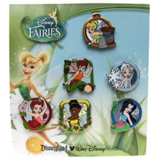 Disney Pin Faries Booster Collection 6 Pin Set