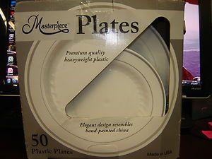 50 PREMIUM QUALITY HEAVYWEIGHT PLASTIC PLATES 25 DINNER 25 SALAD ... & Masterpiece Premium Quality Heavyweight Plastic Plates 25 Dinner ...