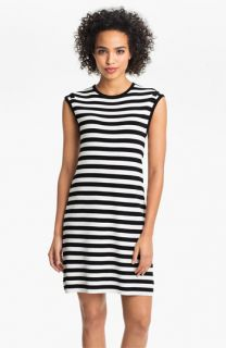 Calvin Klein Cap Sleeve Stripe Sweater Dress