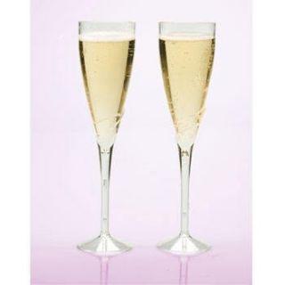 Clear Plastic Champagne Flutes Wine Martini Glasses Cups Clear