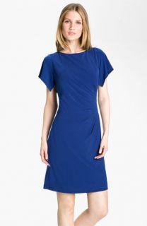 Donna Ricco Flutter Sleeve Jersey Dress