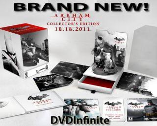 Batman Arkham City Collectors Edition Xbox 360 Brand New 3D Game