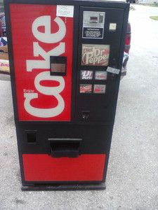 Coke Pepsi Soda Vending Machine Great Deal Look