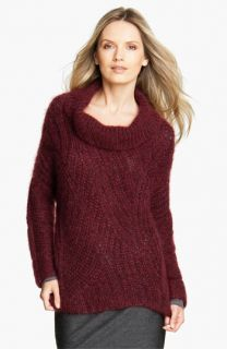 Eileen Fisher Funnel Neck Mohair Blend Sweater