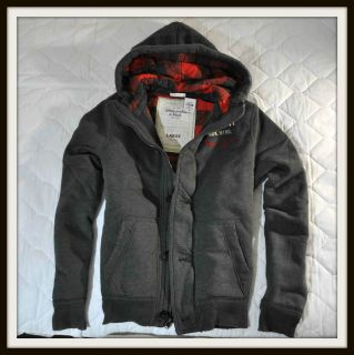 Abercrombie Fitch A F Colden Dam Mens Coat in Dark Heather Grey Size