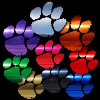 Clemson Tigers Paw 14 inch Auto Car Truck Window Sticker Cornhole
