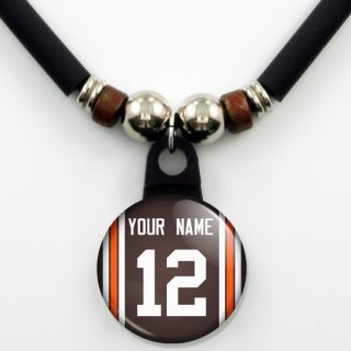 Cleveland Browns Personalized Jersey Necklace