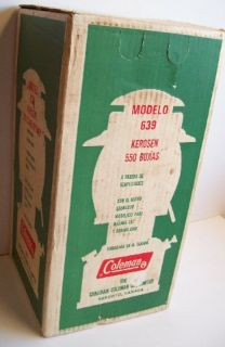 Coleman Kerosene Lantern Model 639 NIB Never Been Fired