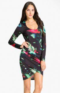 Black Halo Floral Jersey Dress