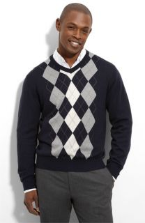 Toscano Merino Wool Blend V Neck Sweater