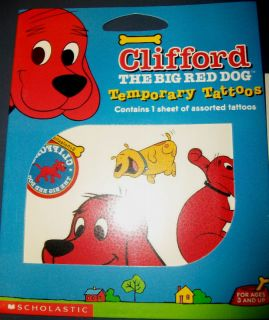 Clifford The Big Red Dog Party Favor Tattoos Cute New GR8 4 Parties