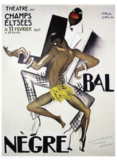 Josephine Baker Poster BAL African American Jazz Black