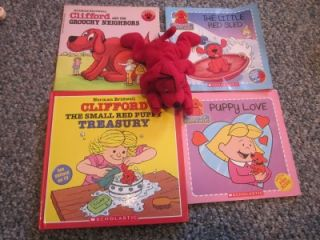 Clifford the Big Red Dog TOY DOGGIE Emily Elizabeth + 4 Books