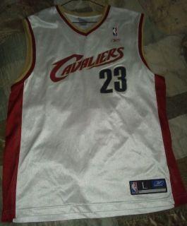 Lebron James Jersey Miami Heat Cleveland Cavaliers Reebok Size Large