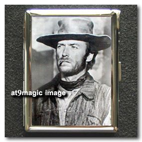 Clint Eastwood Western Cigarette Case Wallet Lighter