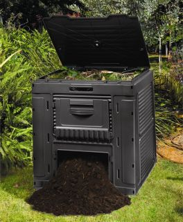 124 Gallon Recycled Plastic Composting Compost Bin Composter..