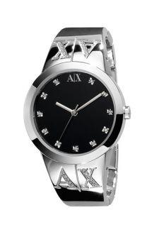 AX Armani Exchange Ladies Crystal Logo Bracelet Watch