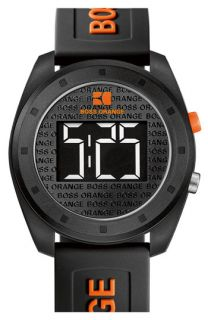 BOSS Orange Rubber Strap Digital Watch
