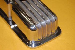 SBC SB Chevy Aluminum Valve Covers Short Finned Nice