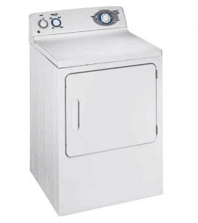 GE White Electric Dryer Front Loader 6 CU ft Extra Large DJXR433EGWW