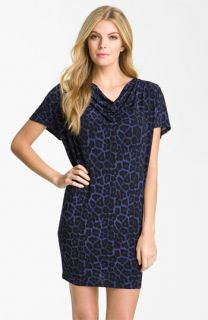 MICHAEL Michael Kors Drape Neck Leopard Print Dress