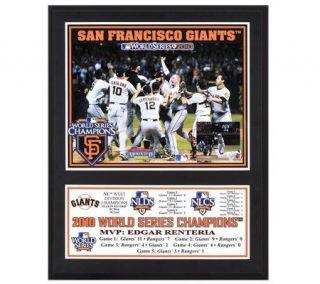 MLB San Francisco Giants 2010 World Series 12x15 Champs Plaque