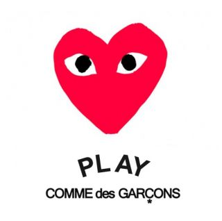 play comme des garcons earring pink heart