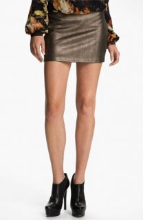 Haute Hippie Metallic Leather Miniskirt