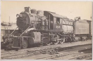 Reading Railroad Postcard Train Steam Locomotive 2 8 0 Engine #1535