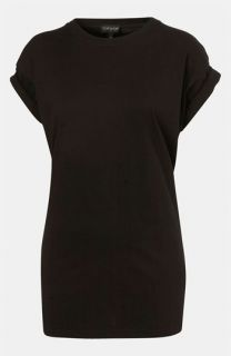 Topshop Oversized Roll Sleeve Tee