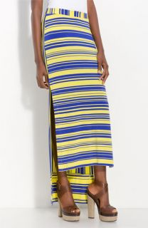 Cut25 Stripe Jersey Maxi Skirt