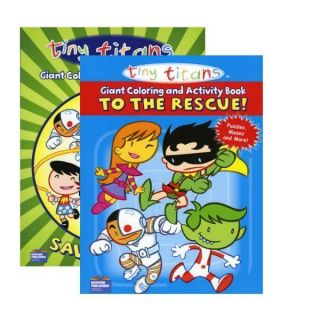 Tiny Titans 2 Assorted 96 Page Coloring Activity Books Teen Titans