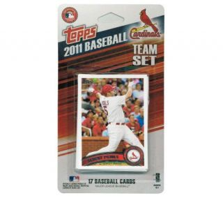2011 World Series Champs St. Louis Cardinals Card Set —