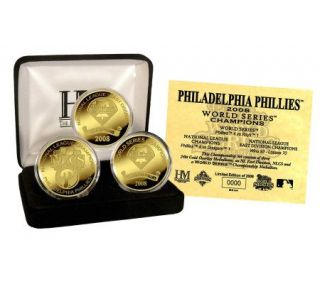 Philadelphia Phillies 2008 World Series Champs3 Coin Set —