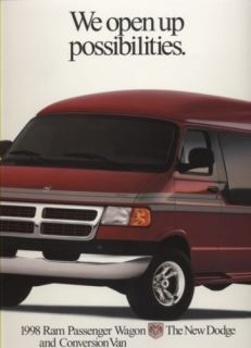 1998 Dodge RAM Wagon Conversion Van Sales Brochure Book