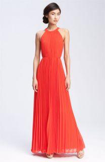 Ted Baker London Pleated Chiffon Maxi Dress