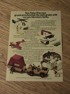 1975 Fisher Price Toy Advertisement Rescue Truck Ad Fun
