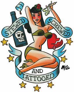 Mitch OConnell Stewed Screwed Tattooed Sticker Decal