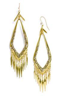 Alexis Bittar Miss Havisham Large Crystal Encrusted Fringe Earrings