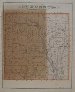 HOPEWELL INDIAN MOUNDS Map Licking County Coal Mines Gratiot Ohio