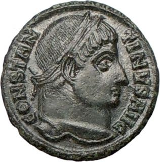 Constantine I The Great 328AD Authentic Genuine Ancient Roman Coin