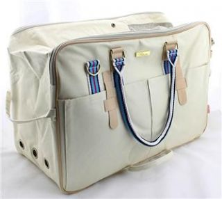 Luxury Comfort dog carriers for small dog white Pet Dog Carrier Bags